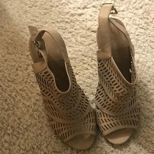 Express brand  open toe heels, very nice